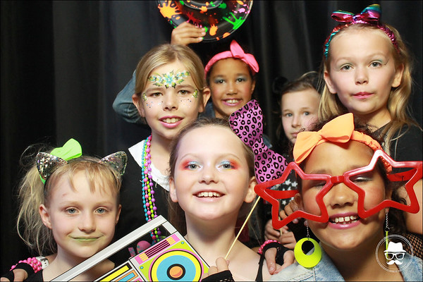 Kids party photo booth hire props