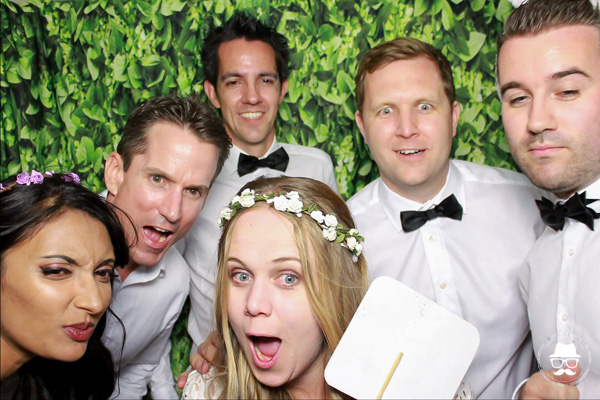 Wedding photo booth - bridal party