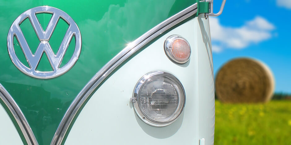 VW Kombi Photo Booth front bumper