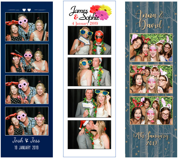 Wedding photo booth photo template strips
