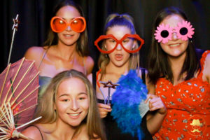 School ball photo booth fun